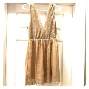 Women's party dress-sparkling gold!
